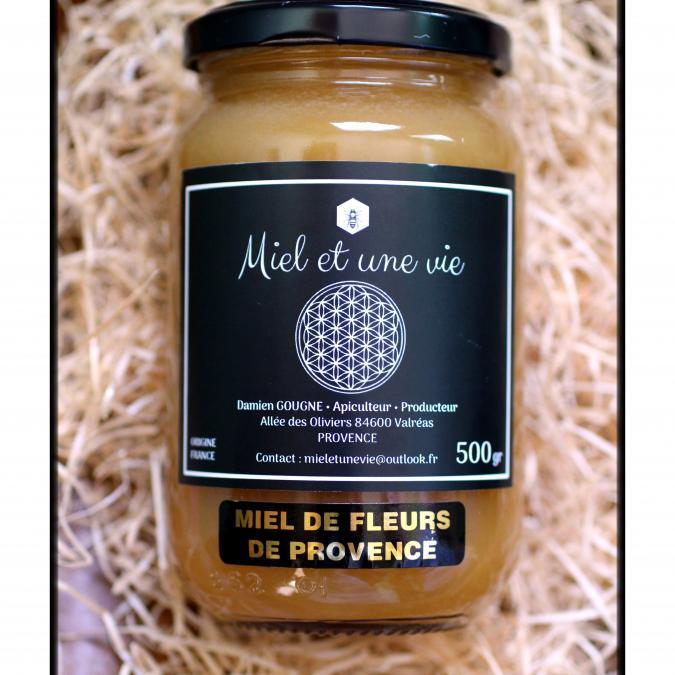 Miel Et Une Vie Apiculteur Producteur - Miel de fleurs de Provence - Miel - 0.5