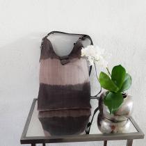 Mililoustik - SAC bandoulière en TOILE EPAISSE dégradé marron /gris beige - Sac à main - Beige