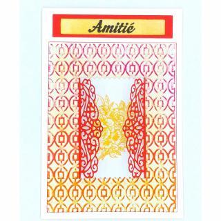 Mimicartes - Carte amitié rose jaune - ___Papeterie - Carterie
