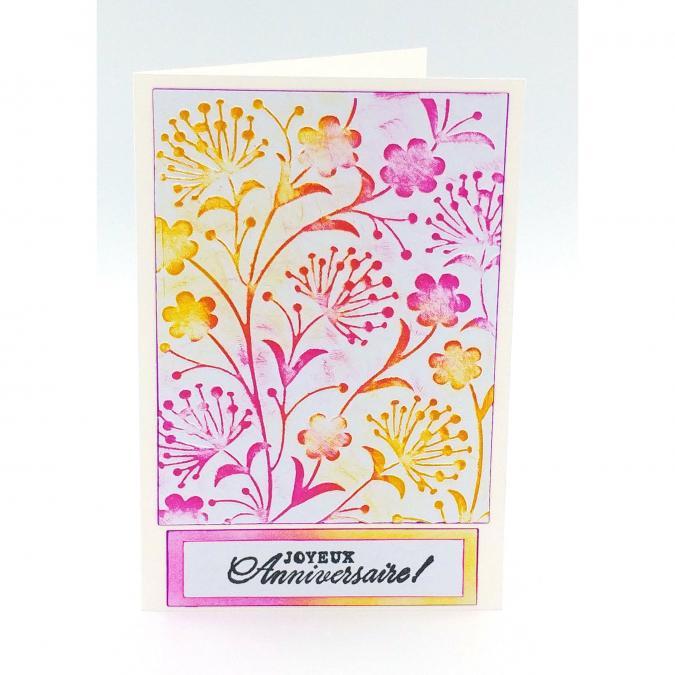 Mimicartes - Carte d'anniversaire fleurie - Carte de voeux