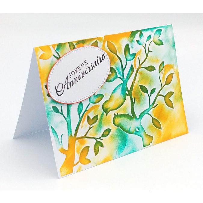 Mimicartes - Carte d'anniversaire oiseaux sur branche pour homme ou femme - Carte de voeux