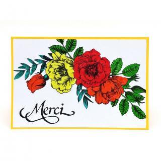 Mimicartes - Carte de remerciement fleurie - ___Papeterie - Carterie