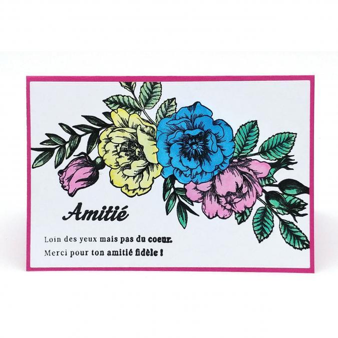 Mimicartes - Carte fleurie amitié - ___Papeterie - Carterie