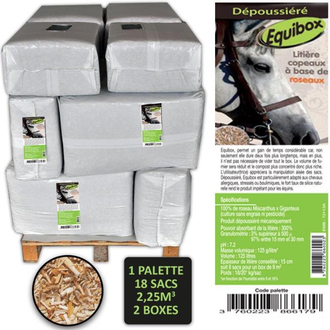 MISCANTHUS GREEN CARE - Litière pour chevaux - Copeaux de miscanthus - 125 litres x 18 sacs [Palette] - Litière pour chevaux