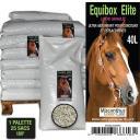 MISCANTHUS GREEN CARE - Litière pour chevaux - Granulés de miscanthus - 40 litres x 25 sacs [Palette] - Litière pour chevaux