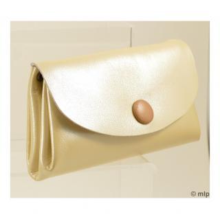 Mlp créations cuir - Gracieux - Porte-monnaie - Vanille