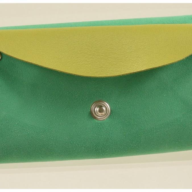 Mlp créations cuir - Gracieux - Porte-monnaie - Vert