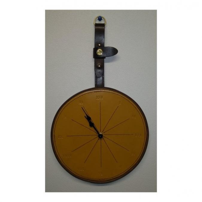 Mlp créations cuir - Horloge murale - Horloge -