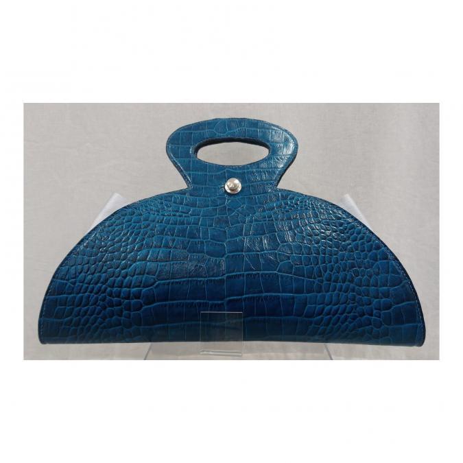 Mlp créations cuir - Regard - Sac à main - Bleu