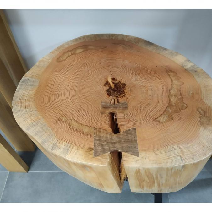 MobilierDedansDehors - Table basse en rondin - Table basse - bois