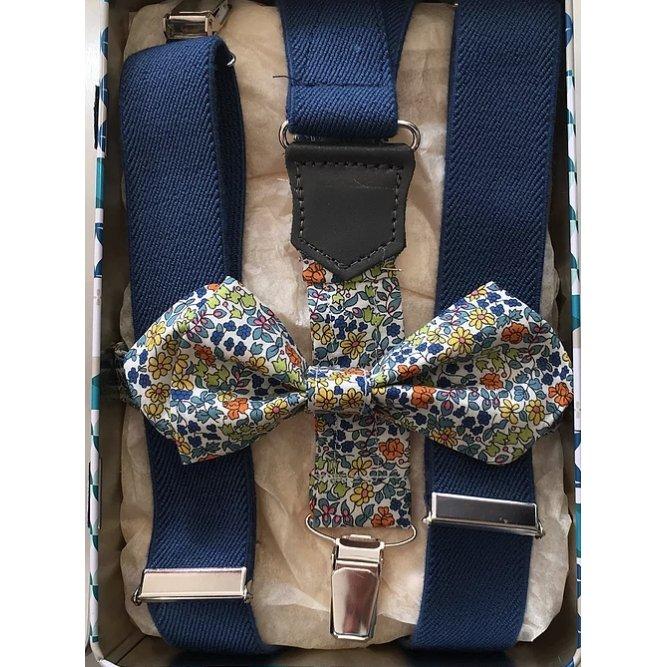 Mon p'tit noeud à louis - Coffret Bretelles Homme + Noeud papillon liberty - Bretelles
