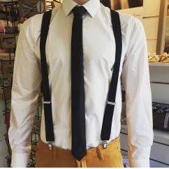 Mon p'tit noeud à louis - Cravate union - Cravate - Noir
