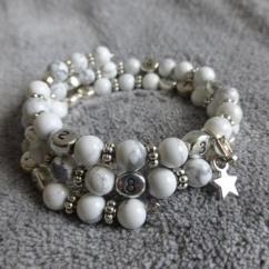 Naïris Bijoux - Bracelet d'allaitement Howlite Devi - Bracelet d'allaitement