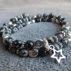 Naïris Bijoux - Bracelet d'allaitement obsidienne Nirmala - Bracelet d'allaitement