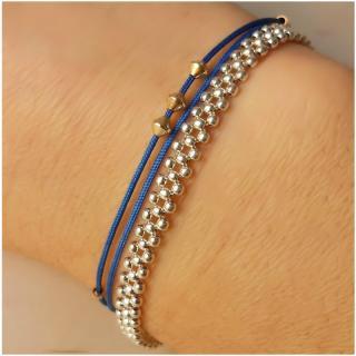 "Natasha R Bijoux - Bracelet Argent Souple ""Eridan"" - Bracelet - Argent (massif)"