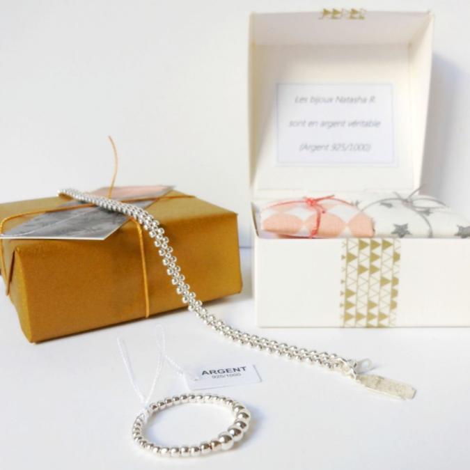 Natasha R Bijoux - Bracelet Turquoise Multirang - Bracelet - Argent (925)