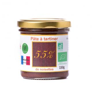 Natural'sace - Pâte à tartiner bio 55% de noisettes - 150 gr - Pâte à tartiner - 0.150