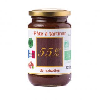 Natural'sace - Pâte à tartiner bio 55% de noisettes - 380 gr - Pâte à tartiner - 0.380