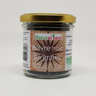 Natural'sace - Poivre noir bio en grains - 70 gr - Poivre