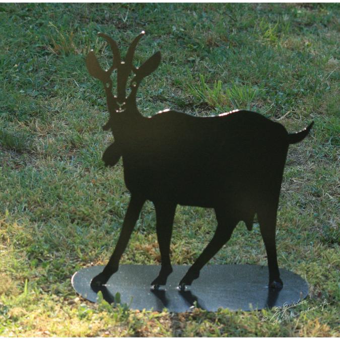 NaturelCreateur - Décor chêvre en métal , silhouette caprin chêvrerie - ___Objet décoratif - métal