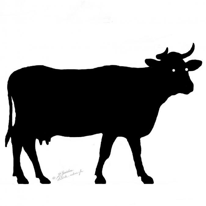 NaturelCreateur - Décor vache en métal , silhouette en acier découpé - ___Objet décoratif - métal