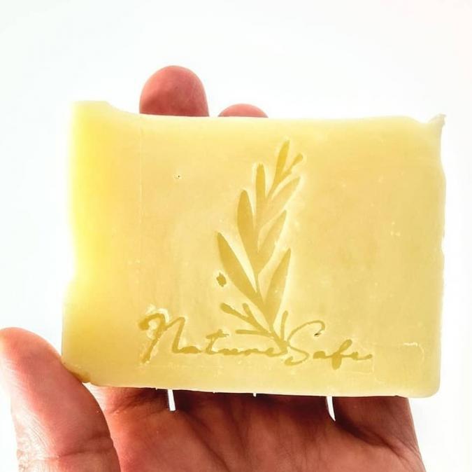 Naturesafe - savon à froid aux herbes bienfaisantes biologiques (90 à 95 g, en vrac) - savon à froid