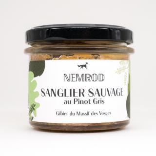 Nemrod - Terrine de Sanglier au Pinot Gris 100g - Pâté -