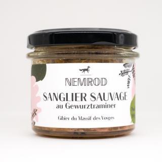 Nemrod - Terrines de Sanglier au Gewurztraminer 100g - Pâté -