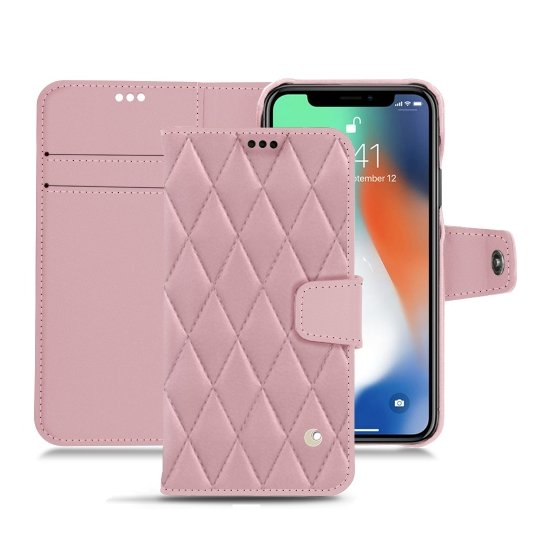 Noreve - HOUSSE CUIR APPLE IPHONE XS MAX - Etui de téléphone - Rose
