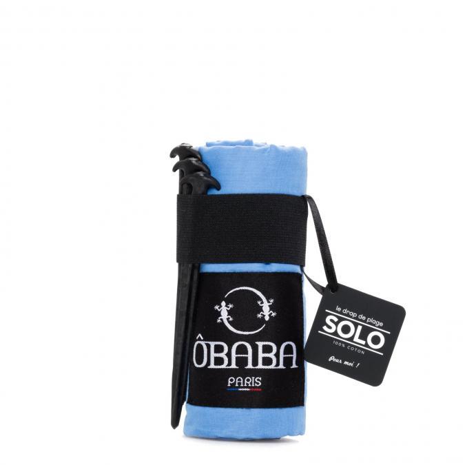 ÔBABA PARIS - ÔBABA SOLO St barth (Bleu) - Serviette de bain - FRAMBOISE