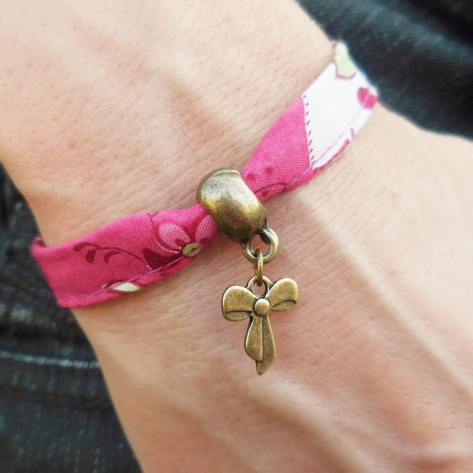 Oh Sud... - Bracelet Midinette Fuchsia - Bracelet - Tissu