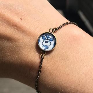 Oh Sud... - Bracelet Soulèu Bleu - Bracelet - Tissu