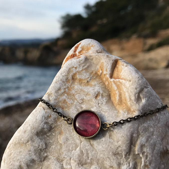 Oh Sud... - Bracelet Soulèu Rouge - Bracelet - Tissu