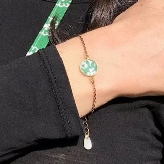 Oh Sud... - Bracelet Soulèu Vert - Bracelet - Tissu