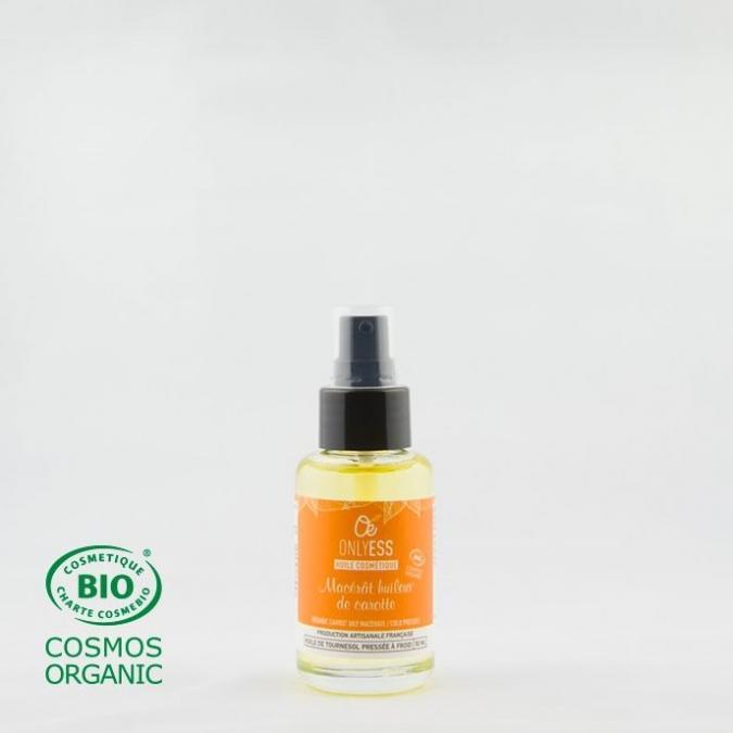 ONLYESS, le soin de peau 100% végétal - Macérat huileux de Carotte BIO* - Huile corporelle -
