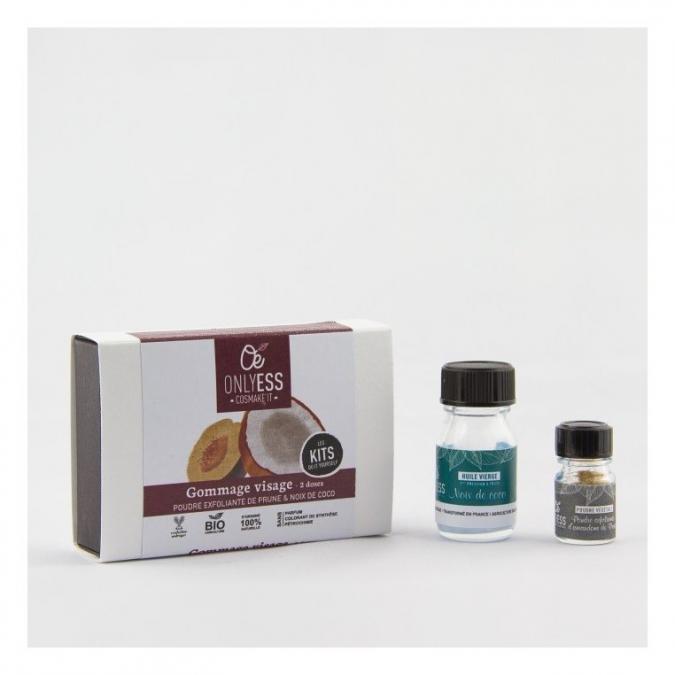 ONLYESS, le soin de peau 100% végétal - Mini-kit Gommage visage - 2 à 4 doses - Gommage -