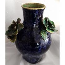Or de terre - Vase Majolique - Vase