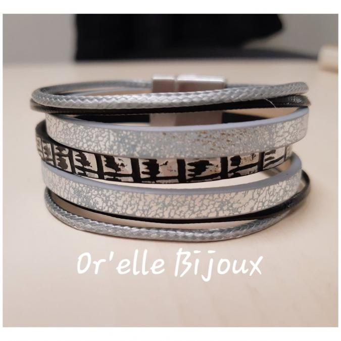 Or'elle Bijoux - Bracelet - Bracelet - Cuir
