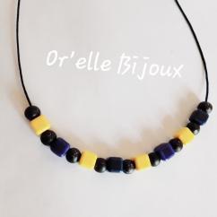 Or'elle Bijoux - Collier céramique et bois - Collier - 4668
