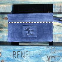 Paname Shelter - Cooper -pochette suédée - Pochette (maroquinerie) - Bleu