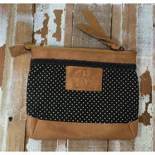 Paname Shelter - Pigalle -pochette à pois - Pochette (maroquinerie) - Noir
