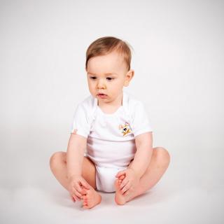 Papate - Body fuzzy - 9 mois - Body (bébé) - blanc