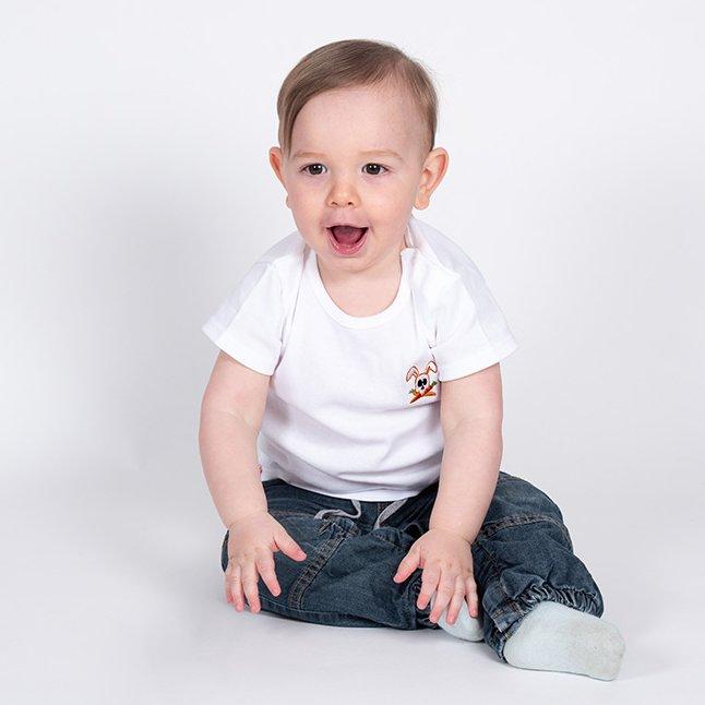 Papate - T-Shirt Hotot - 12 mois - Tee-shirt (enfant) - blanc