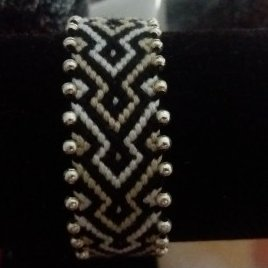 bracelet bresilien noir et blanc