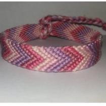 Passion-bracelet - Bracelet brésilien chevron nuance de rose et violet - Bracelet - Coton