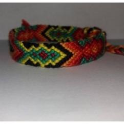 Passion-bracelet - Bracelet brésilien diamant jaune vert orange rouge noir - Bracelet - Coton