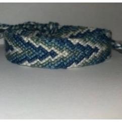 Passion-bracelet - Bracelet brésilien flèche nuance de bleu et blanc 1 - Bracelet - Coton