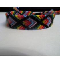 Passion-bracelet - Bracelet brésilien infinity arc en ciel fermoir coulissant macramé - Bracelet -