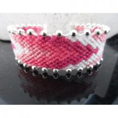 """Passion-bracelet - Bracelet brésilien """"Rose bonbon"""" - Bracelet - Coton"""