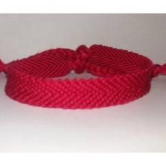 Passion-bracelet - Bracelet brésilien uni rose 1 - Bracelet - Coton